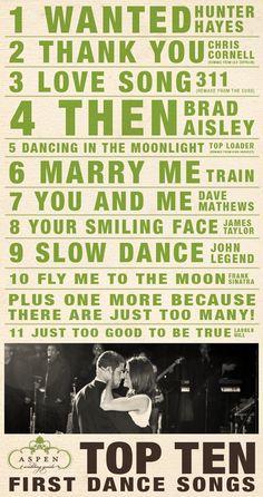 top 10 first dance songs :D