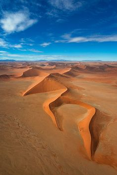 The Three Fingers, Namibia. Part of Dune 45, which is a star dune in the Sossusvlei area of the Namib Desert in Namibia.