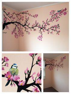 Resultat D Imatges Per A Pintura Pared Cerezo Tree Wall Painting Diy Wall Painting Wall Painting Decor