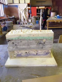 Plaster work in progress