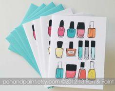 handmade fingernail polish card - Google Search