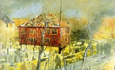 """""""Red House"""" (1995) - Peter Doig"""