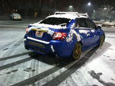 Subaru WRX in the snow Subaru Wrx, Beast, Snow, Toys, Car, Blue, Automobile, Vehicles