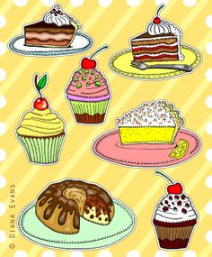 Illustration Friday - Dessert....yummm and I wish you all a wonderful long weekend!!!