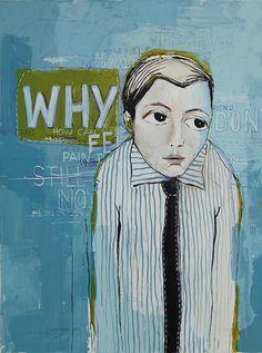 """Why"", 2011, painting by Vane Kosturanov."