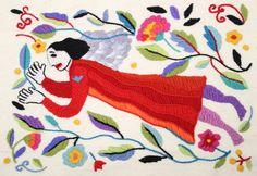 Größe 50 x 35cm. Das Grundgewebe ist Wolle. Gestaltet von Anneli Airikka-Lammi.