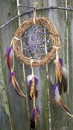 Amethyst Dream Catcher by 7WishesDreamcatchers on Etsy, $35.00