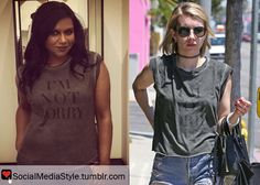 Mindy Kaling vs Emma Roberts: Who Wore It Better? Buy their I'm Not Sorry shirt, here!