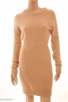 VICTORIA'S SECRET MODA INTERNATIONAL Beige 65% Angora Sweater Dress S #ModaInternational #SweaterDress #Casual