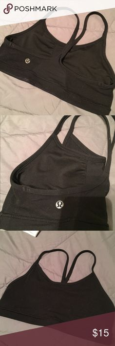 """Lululemon Flow Y bra Used, bought from another posher but way too small for me. Size 6, couldn't find a size dot though. Definitely a """"small"""" size. In good condition. Smoke free, pet free home. Any questions, just ask. ❤ lululemon athletica Other"""