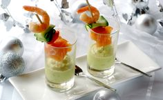 Avocado Mousse With Salmon Skewers: a simple, sensational starter for a South African festive feast! Avos are in high season now...