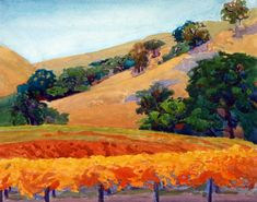 robin purcell california watercolors in the plein air tradition: The Wine Country Invitational, The Fairmont Gallery in Sonoma, Reception September 17th
