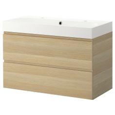 GODMORGON/BRAVIKEN Armario lavabo 2 cajones 100cm