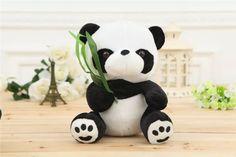 Hot Sale Lovely Panda Plush Toy For Kids Gift Plush Bear Lying Posture 25cm or Sitting Posture 20cm Free Shipping