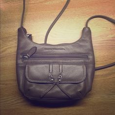 Sale! Cute leather crossbody bag NWT Cute small leather shoulder bag by Stone Mountain! New with tags! Light brown/tan color. Stone Mountain Bags Shoulder Bags
