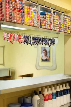 Salon XL - (like the color tube hanging contraption) The Best Hair Salons in America 2014 - List of the 100 Best Hair Salons n the United States - Elle
