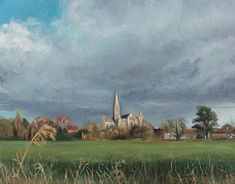 Salisbury Cathedral, painted in oil on canvas. Chasing light, before the rain! Salisbury Cathedral, Chasing Lights, New Work, Landscape Paintings, Oil On Canvas, Behance, Fine Art, Gallery, Check
