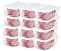 Bravo-fit Women's Shoe Storage System 12 Pack Stackable  Find at our online store:  www.sforganizedinteriors.com  #Closet #Organizing #Products