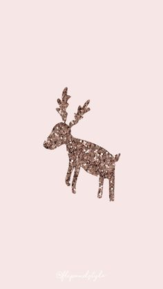 Christmas wallpaper – pink with a glittered reindeer ⛄ ? Christmas wallpaper for mobile IPhone and Android - Backgrounds Wallpaper Natal, Christmas Phone Wallpaper, Holiday Wallpaper, Wallpaper S, Wallpaper Ideas, Christmas Walpaper, Free Wallpaper Backgrounds, Cute Backgrounds, Trendy Wallpaper