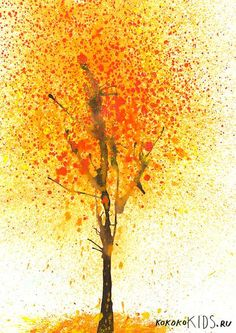 Splatter-Paint-Fall-Tree