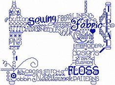 Lets Sew cross stitch pattern, designed by Ursula Michael