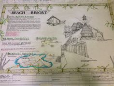 Proposed project: Beach Resort Concept Board Concept Board Architecture, Architecture Design, Landscape Architecture, Painted Floors, Beach Resorts, Proposal, Presentation, How To Plan, Lighting Design