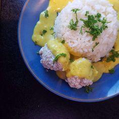 Kylling boller i karry. | #hashtagmor Let, Cauliflower, Vegetables, Cooking, Food, Kitchen, Cuisine, Cauliflowers, Koken