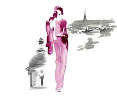Official website for Paris-based artist and illustrator, Aurore de la Morinerie. Fashion Painting, Fashion Art, Art Mat, Fashion Design Sketchbook, Figure Sketching, Illustration Art, Illustration Fashion, Fashion Illustrations, Fashion Figures
