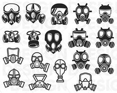Etsy :: Your place to buy and sell all things handmade Gas Mask Drawing, Gas Mask Art, Masks Art, Drawing Base, Gas Masks, Graffiti Tattoo, Graffiti Drawing, Graffiti Lettering, Graffiti Art