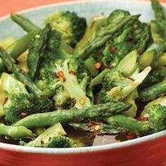 Hot 'n Sweet Broccoli and Asparagus Allrecipes.com