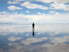 One of the worldest largest mirror in Bolivia
