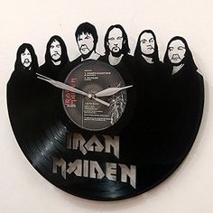 Iron Maiden Vinyl Record Wall Clock great gift idea for music fans