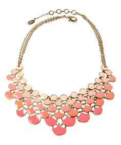 Another great find on #zulily! Peach & Light Coral Ombré Bib Necklace #zulilyfinds