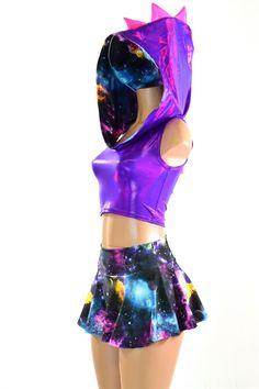 1e54ff1ccd3 Galaxy Dragon Hoodie   Skirt Set