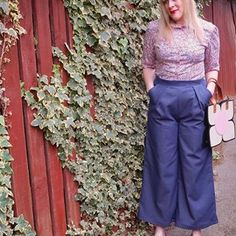 It is getting chilly out there now so I couldn't think of two better things to make than a pair of Rachel trousers and a Nikki cardigan by the lovely @athinakakou @akpatterns 🤩 I firstly made the Rachel trousers using a lightweight denim. They came together really quickly and were not complicated at all to construct. I cropped them slightly and I think they look great. Perfect for wearing with a shirt or woolly jumper. I am wearing mine with my @tillybuttons Rosa shirt that I still love and… Better Things, Good Things, Wooly Jumper, Second Best, Looks Great, How To Make, How To Wear, Trousers, Jumpsuit