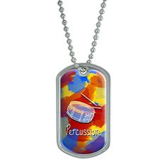Percussion  Snare Drums Musical Instrument Music Band Military Dog Tag Keychain ** Check out the image by visiting the link.(This is an Amazon affiliate link and I receive a commission for the sales)