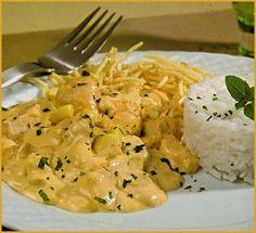 Strogonoff de pollo y champiñones - Cocina Casera .net