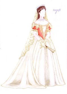 Coronation gown version - Bertalan Karlovszky by maya40.deviantart.com on @deviantART
