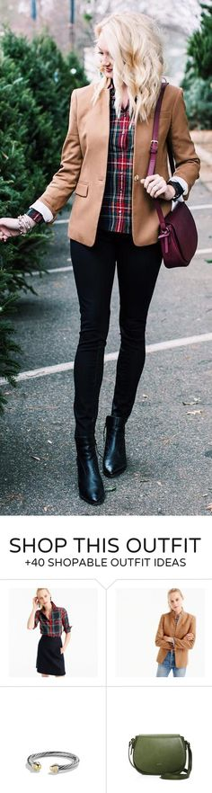 #winter #fashion /  Camel Blazer / Printed Shirt / Black Skinny Jeans / Black Leather Booties