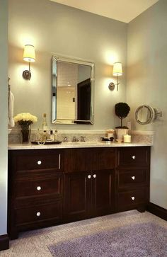 Guest bath counter top and cabinets