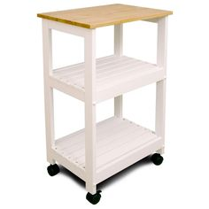 Catskill Craftsmen 21 in. W Wood Kitchen Trolley-81515 - The Home Depot