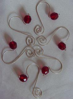 Midsize Ornament HooksHangers sample colors  Christmas