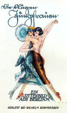 THE CLEVER YOUNG WOMEN, Lesbian novel, Weimar Berlin period, featuring a cover illustration of flappers dancing. 1920's (please follow minkshmink on pinterest) #weimar #weimarberlin #flappers #lesbians #lesbiannovel #gaynovel #gayart