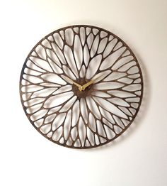 Laser cutting: Wandering Laser Cut Wood Clock// could be metal for outside Laser Cut Wood, Laser Cutting, 3d Laser Printer, Gravure Laser, Cool Clocks, Wooden Clock, Metal Clock, Laser Engraving, Home Accessories