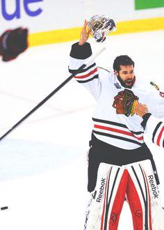 Corey #Crawford Stanley Cup Champs 2013 #GoaliesarentPeople