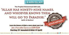 """""""The Most beautiful names belongs to Allah ... """" (Surah Al Araf : 180)  Join this short course """"THE PROTECTOR AND THE CLEAR ENEMY """"  And do invite your friends :  https://www.facebook.com/events/1560301854285366/?ref=70&refid=52"""