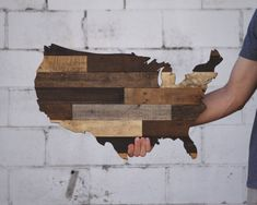 Rustic United States of America Made from Reclaimed Wood