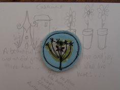 Brooch Badge: Seedhead textile £4.50