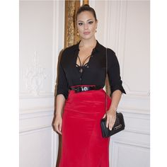 Last night in #Paris at the @maisonvalentino in honor of @cash_and_rocket by @mr.edkavishe @fashion_press | bra by #AshleyGrahamXAdditionElle | @theory__ top | @vldesigns custom made skirt | earrings @gurhanjewelry | thank you for the @maisonvalentino bag <3 #beautybeyondsize