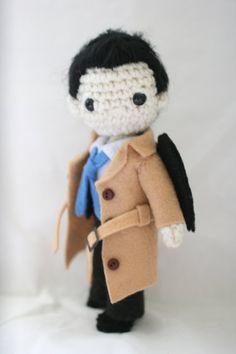 Supernatural Castiel Amigurumi Crochet Doll by sailonastar on Etsy